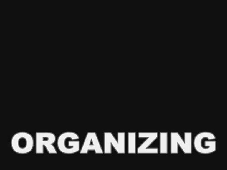 Organizing (Management Functions)