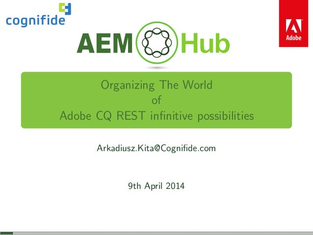 Organizing The World Of CQ REST Infinitive Possibilities