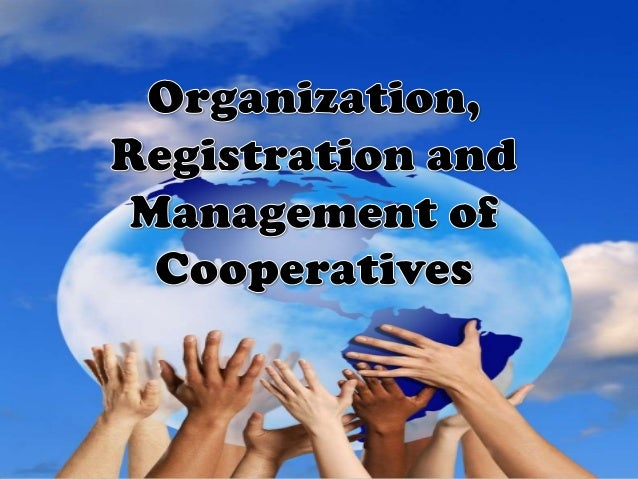 Organizing and Registering a Cooperative