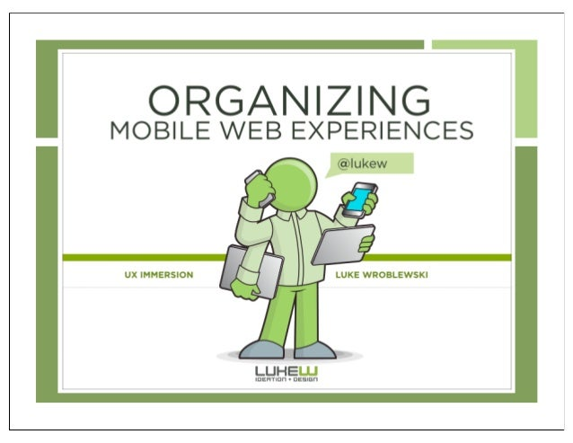 Organizing mobile web experiences - preview