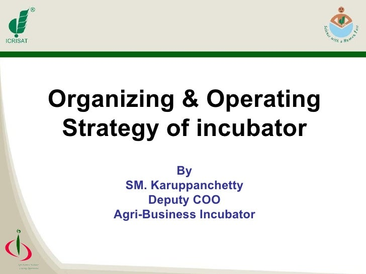 Organizing & operating_strategy_of_incubator