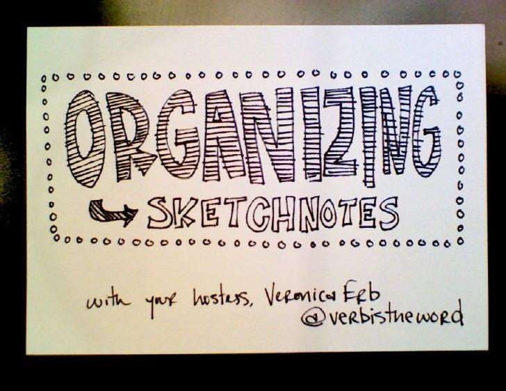 Organizing Sketchnotes — MidwestUX 2012