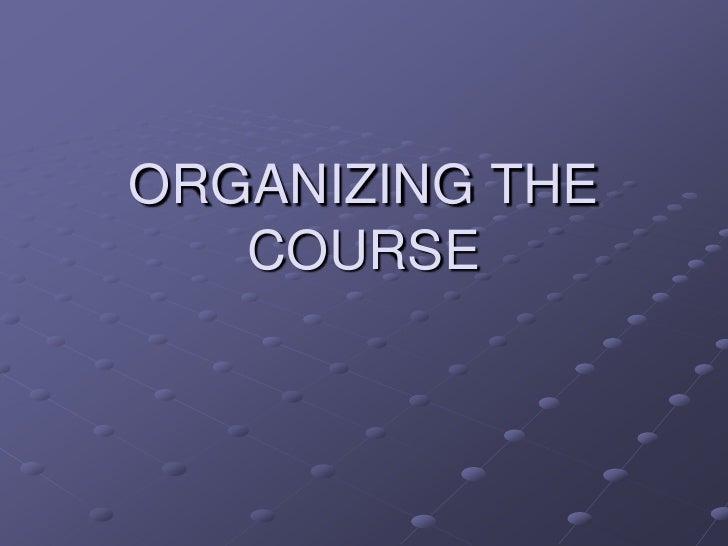 Organizing a Language Course