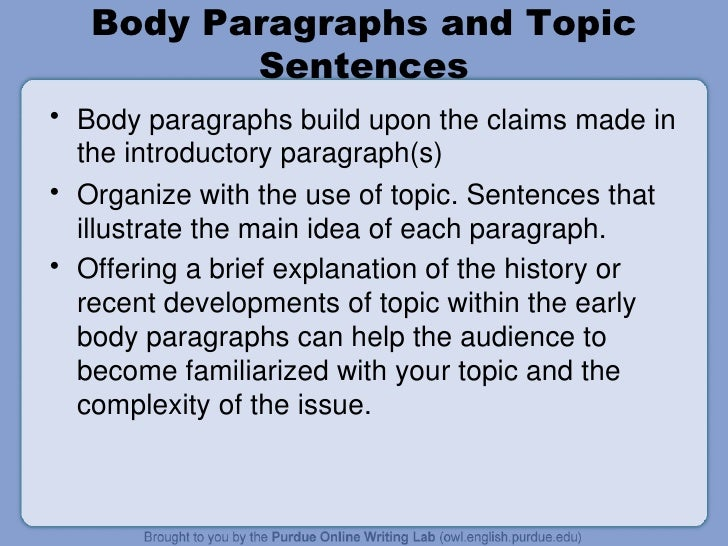 Owl Body Paragraphs Body Paragraphs And Topic