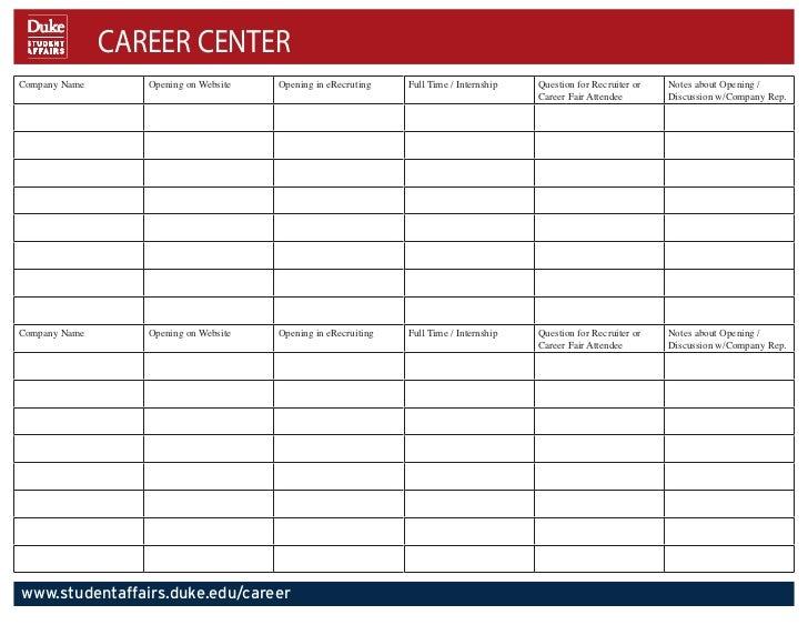 Organizing your career fair experience