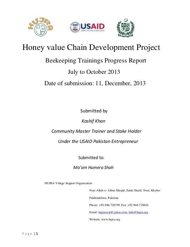 Organiztion progress report (Report writing)