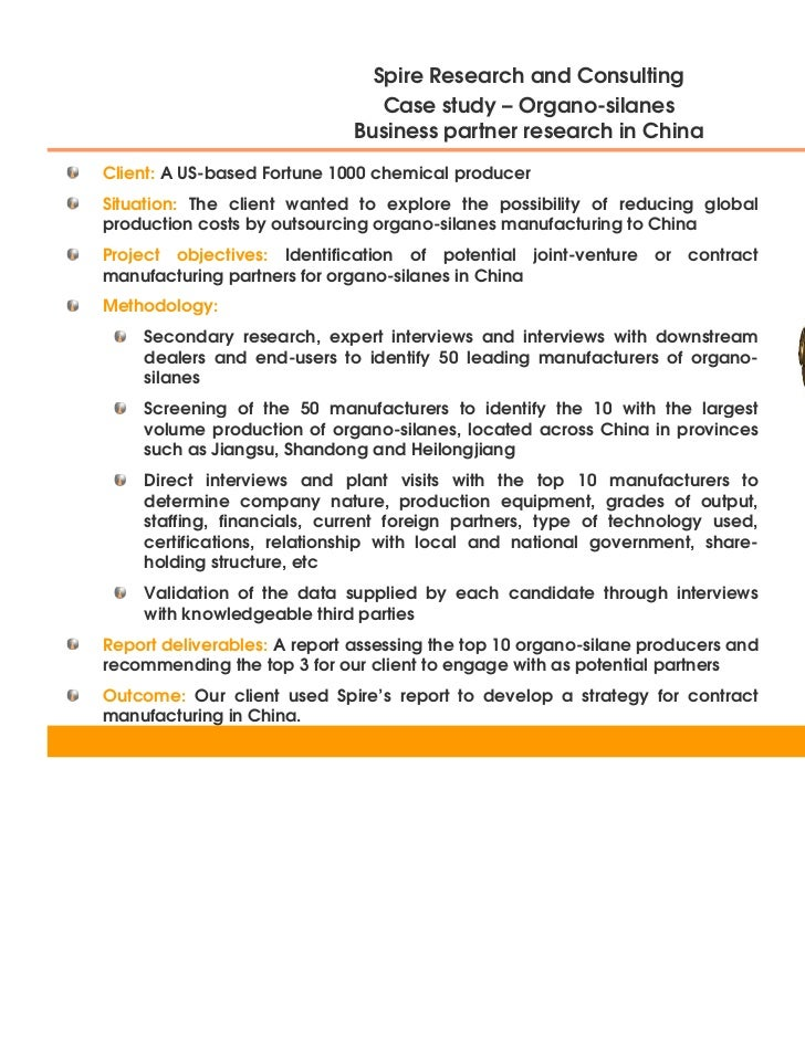 Organo-silanes - Business Partner Research in China