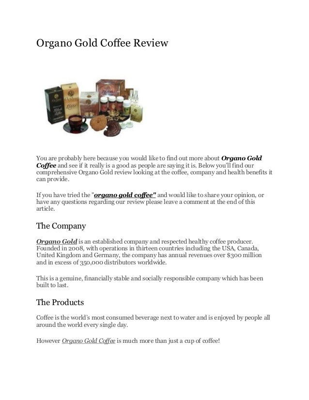Organo gold review| Can you still make money?