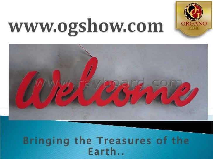 Organo gold slide show