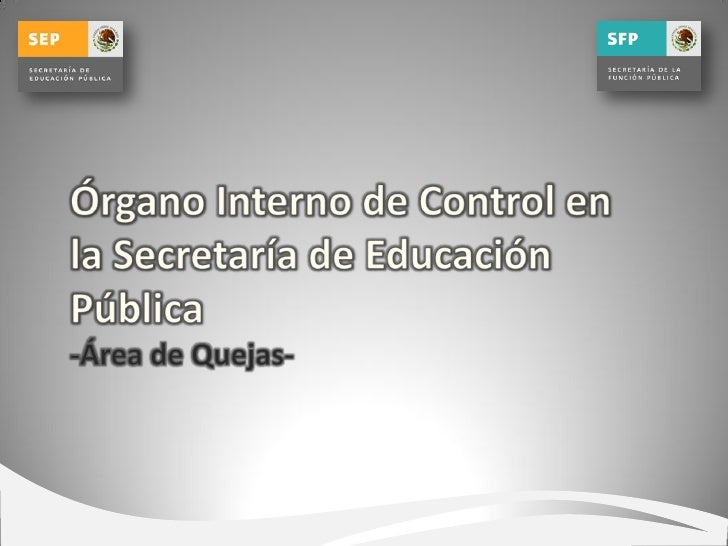 Organo Interno de Control en la SEP