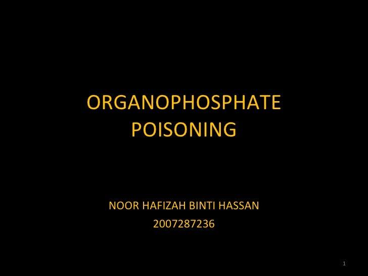 Organophosphate poisoning