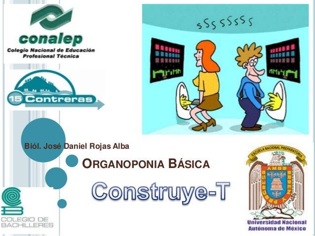 Biól. José Daniel Rojas Alba               ORGANOPONIA BÁSICA