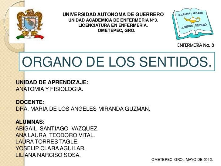 UNIVERSIDAD AUTONOMA DE GUERRERO               UNIDAD ACADEMICA DE ENFERMERIA N°3.                   LICENCIATURA EN ENFER...