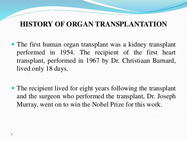 conclusion of organ transplantation Significant facilitators and barriers to organ donation and transplantation remain in the general public  conclusion attention to the  journal of.