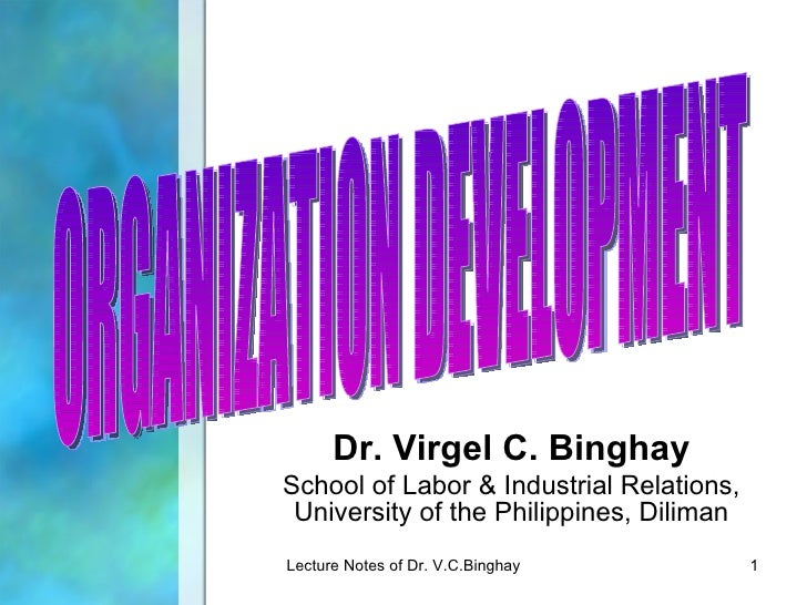 Dr. Virgel C. BinghaySchool of Labor & Industrial Relations, University of the Philippines, DilimanLecture Notes of Dr. V....