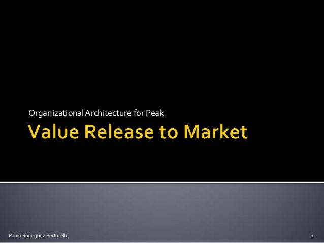 Organizational Architecture for Peak Value Release to Market