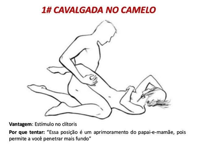 """1# CAVALGADA NO CAMELO Vantagem: Estímulo no clítoris Por que tentar: """"Essa posição é um aprimoramento do papai-e-mamãe, p..."""