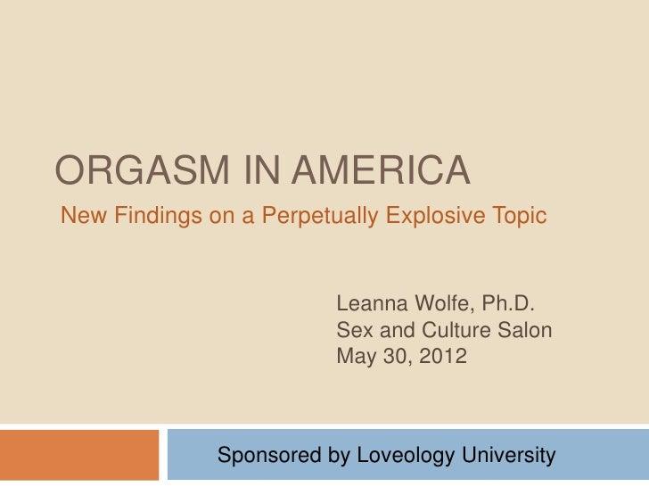 Orgasm in America