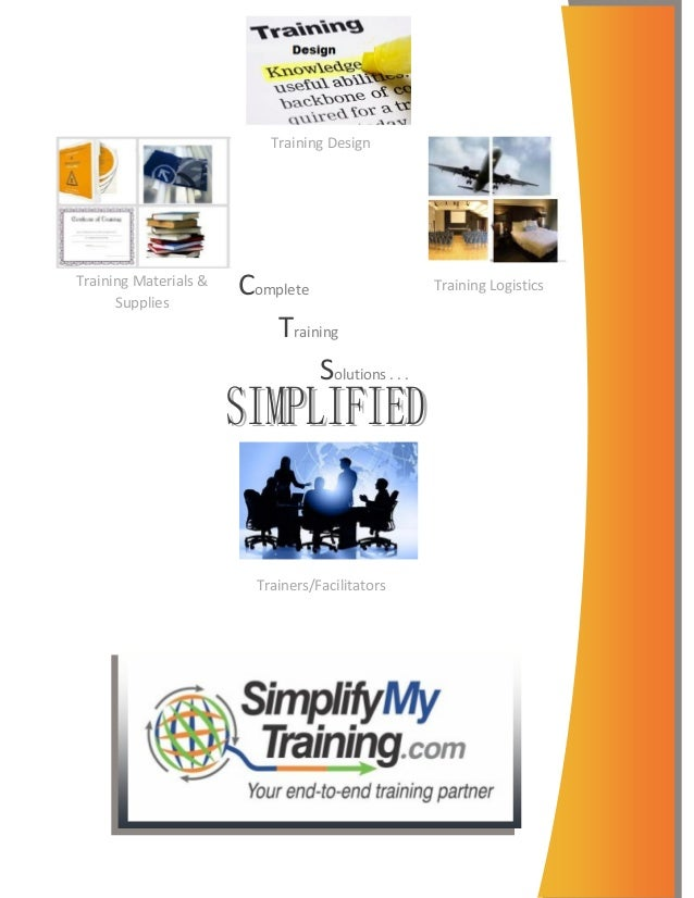 Training DesignTraining Materials &      Supplies                       Complete                   Training Logistics     ...