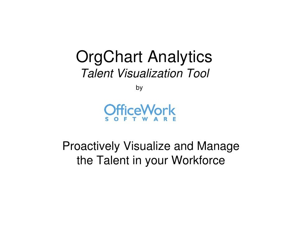 OrgChart Analytics    Talent Visualization Tool              by     Proactively Visualize and Manage   the Talent in your ...