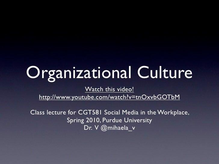 Orgnizational Culture