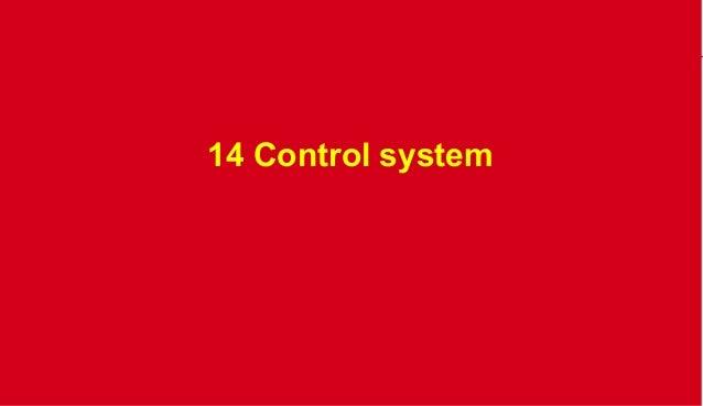 14 Control system  organization @TC 2013