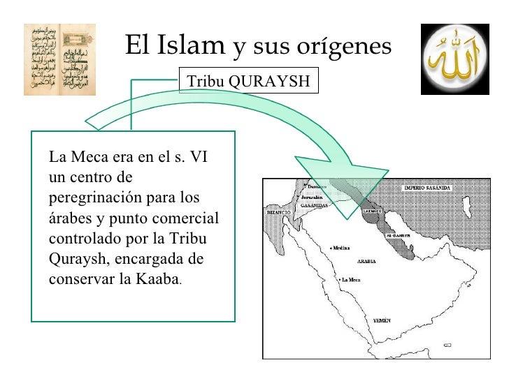 El Islam  y sus orígenes Tribu QURAYSH La Meca era en el s. VI un centro de peregrinación para los árabes y punto comercia...