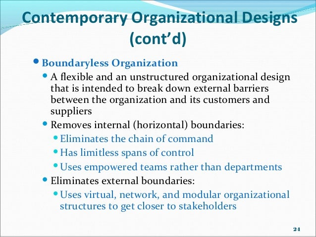 Organisational Designs And Structures Traditional