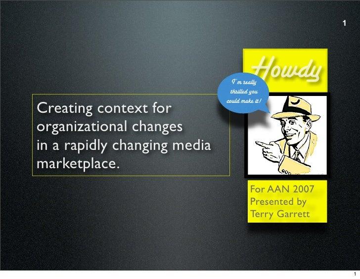 Media Publishing and Organizational Management