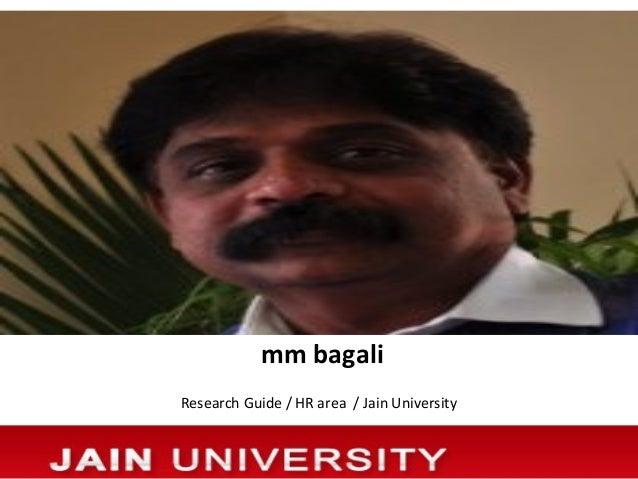 mm bagaliResearch Guide / HR area / Jain University