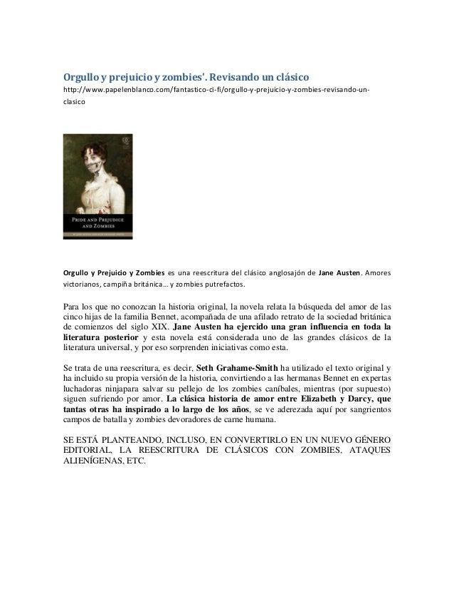 Orgulloyprejuicioyzombies'.Revisandounclásico http://www.papelenblanco.com/fantastico‐ci‐fi/orgullo‐y‐prejuicio‐y‐...