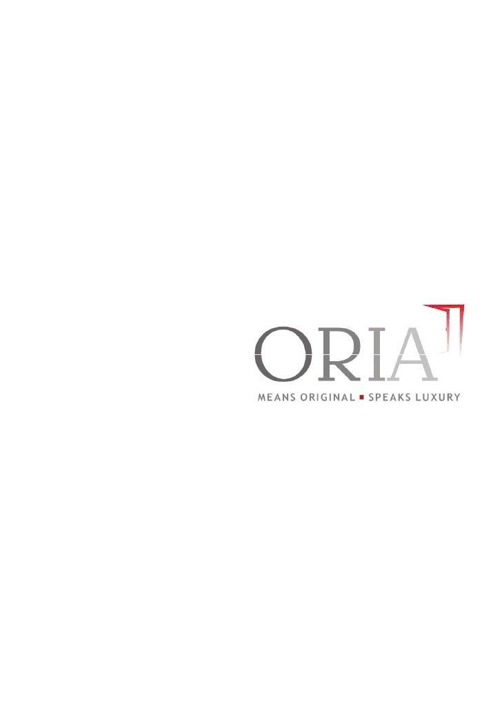 Oria Catalogue 2011