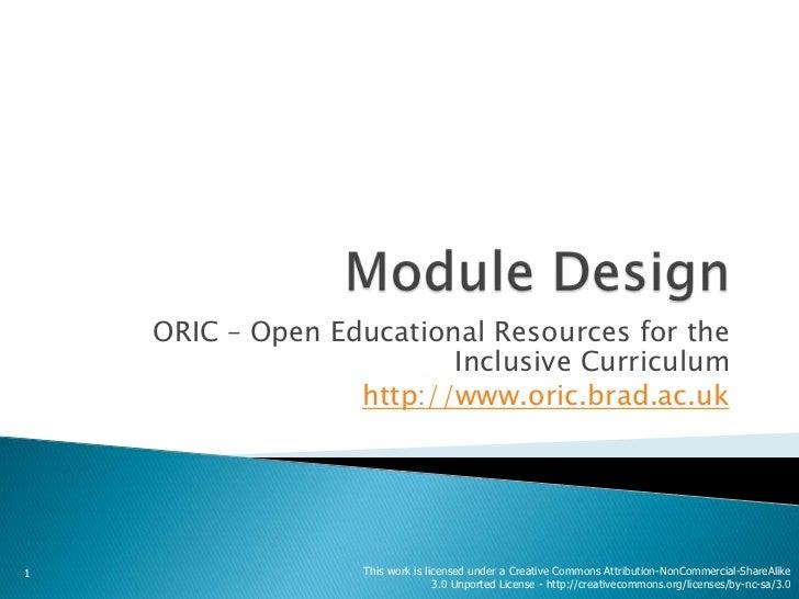 ORIC Module Design