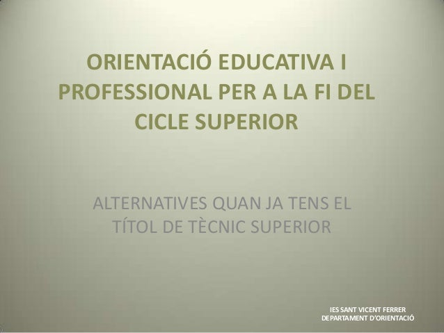 Orientació educativa i professional c.s.