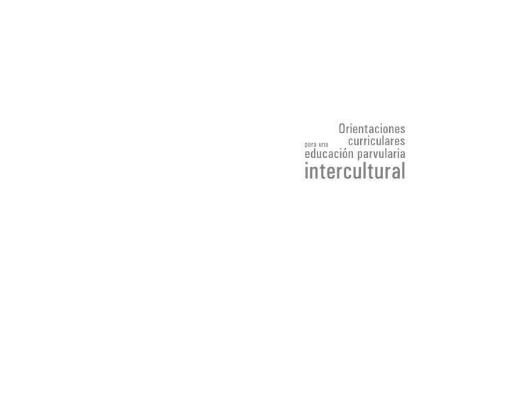 Orientacionespara una   curriculareseducación parvulariaintercultural