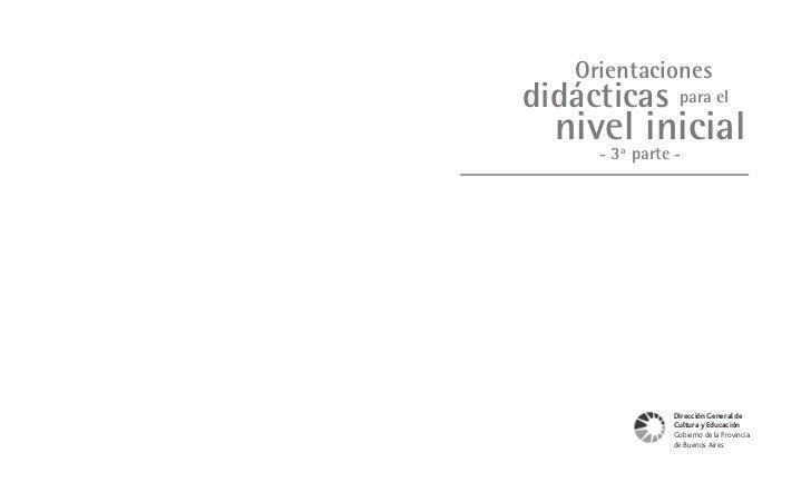 Orientaciones Didácticas n°3