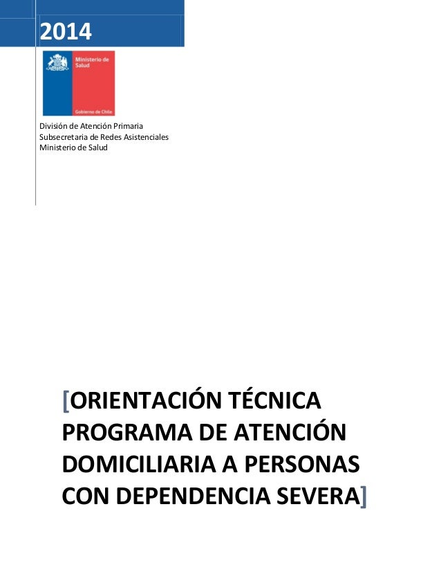 Orientacion tecnica pog atención de personas con dep severa 2014 (1)