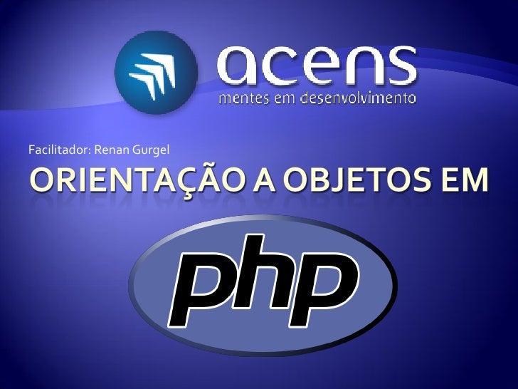 Orientação a objetos   php