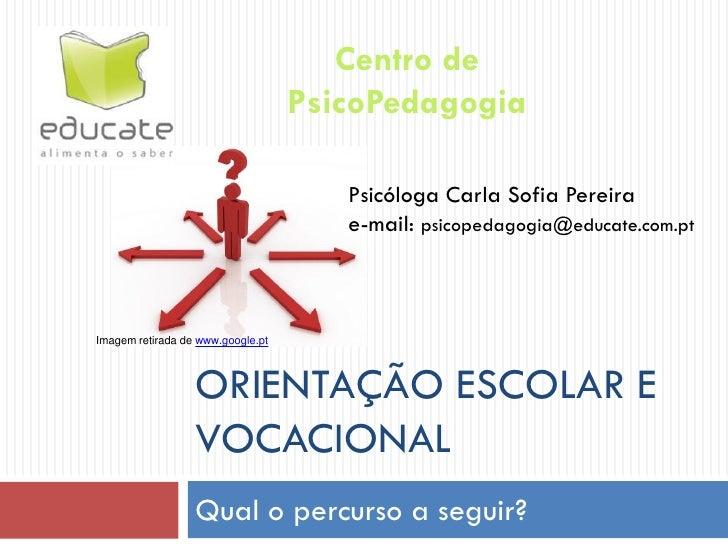 Centro de                                   PsicoPedagogia                                      Psicóloga Carla Sofia Pere...