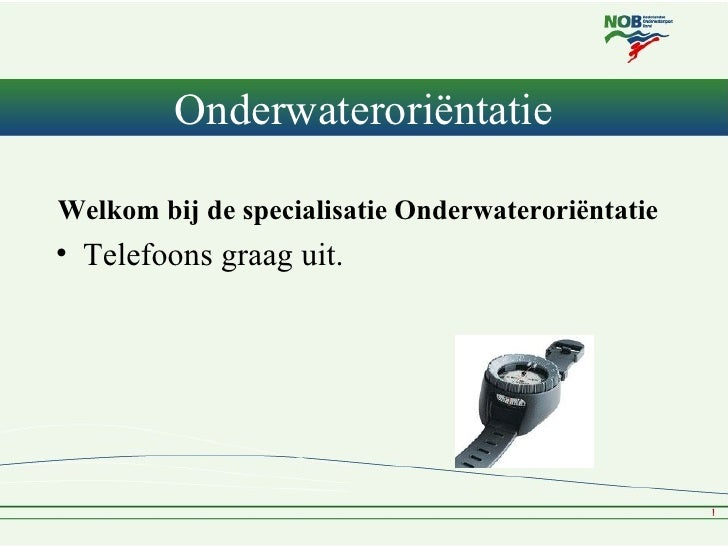 NOB Specialisatie Onderwaterorientatie