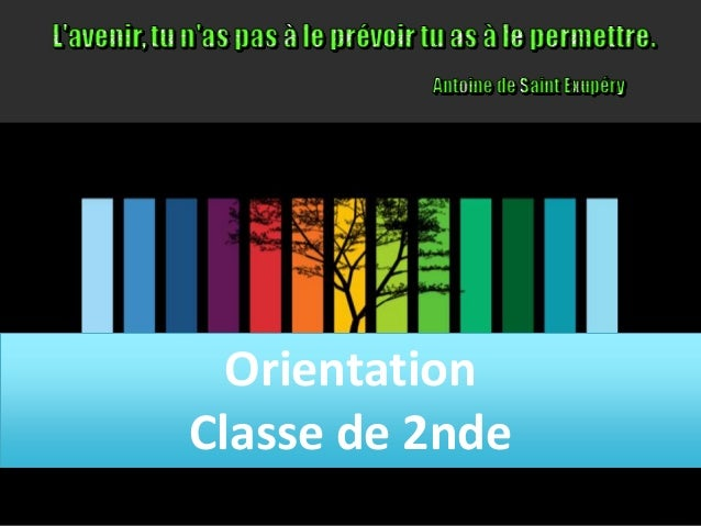 Orientation Classe de 2nde