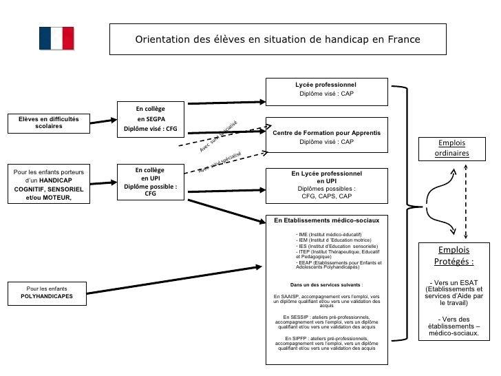 Orientation des élèves en situation de handicap en France Elèves en difficultés scolaires Pour les enfants porteurs d'un  ...