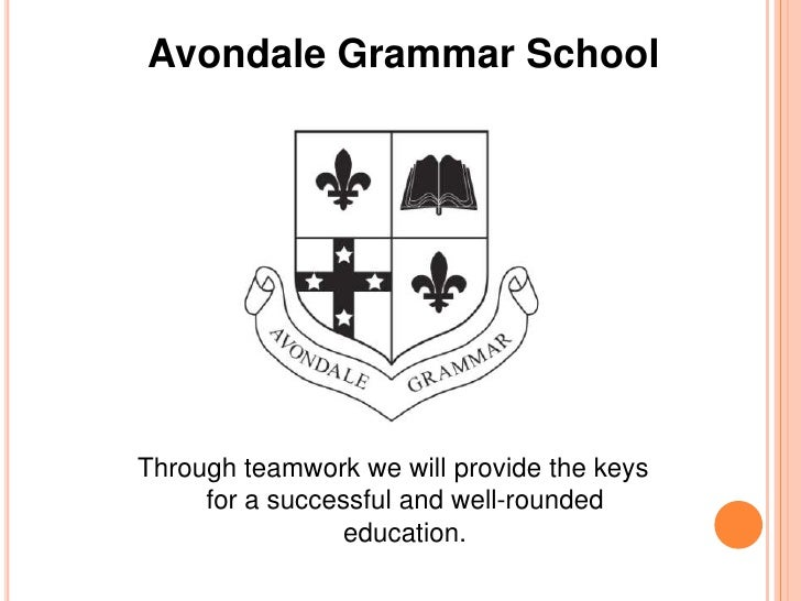 Avondale Grammar School<br />Through teamwork we will provide the keys for a successful and well-rounded education.<br />