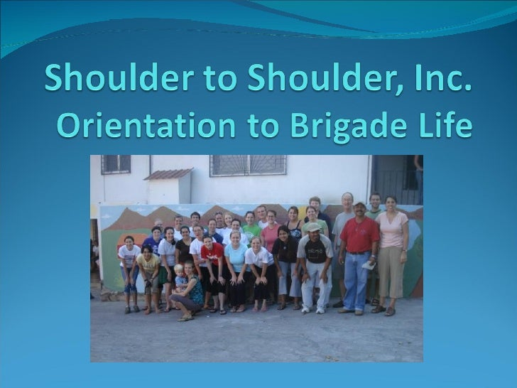 Shoulder to Shoulder Volunteer Orientation