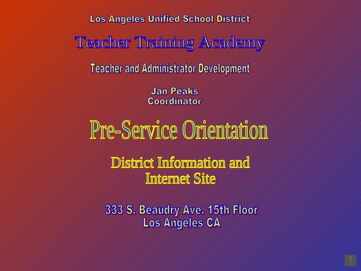 TTA Orientation Facts and Internet