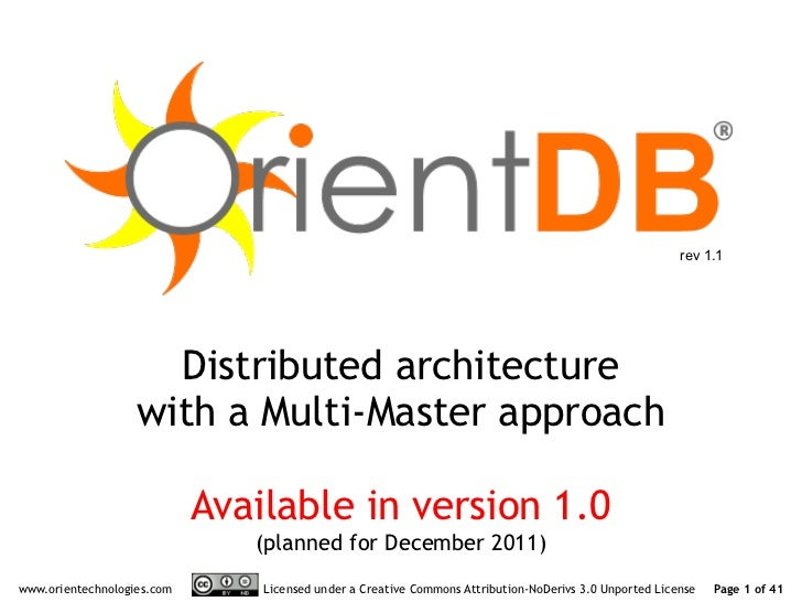 rev 1.1                     Distributed architecture                   with a Multi-Master approach                       ...