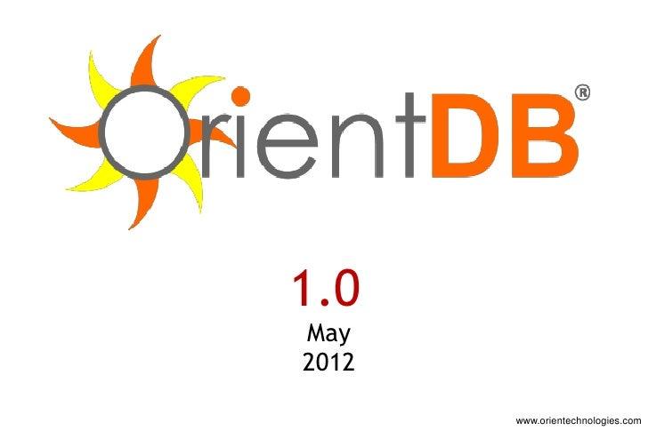 1.0May2012       www.orientechnologies.com