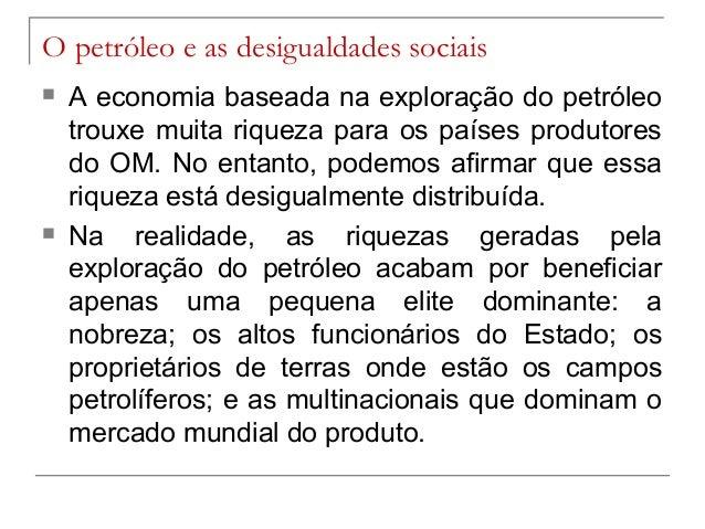 Resultado de imagem para desigualdade social no oriente medio petroleo