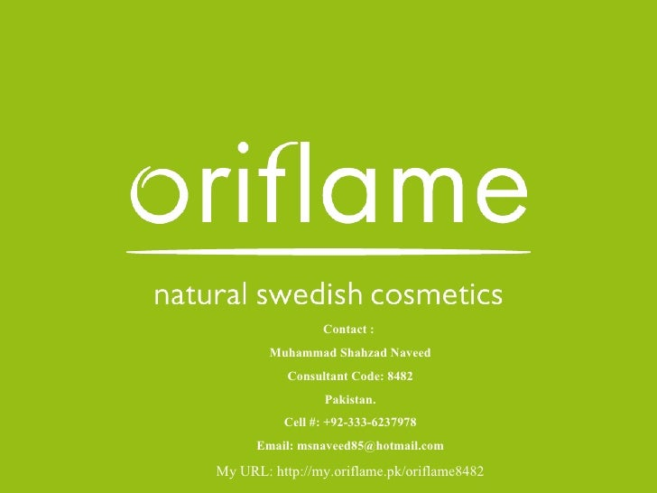 Oriflame presentation muhammad shahzad naveed consultent 8482
