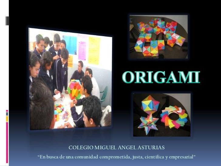 Origami al colegio